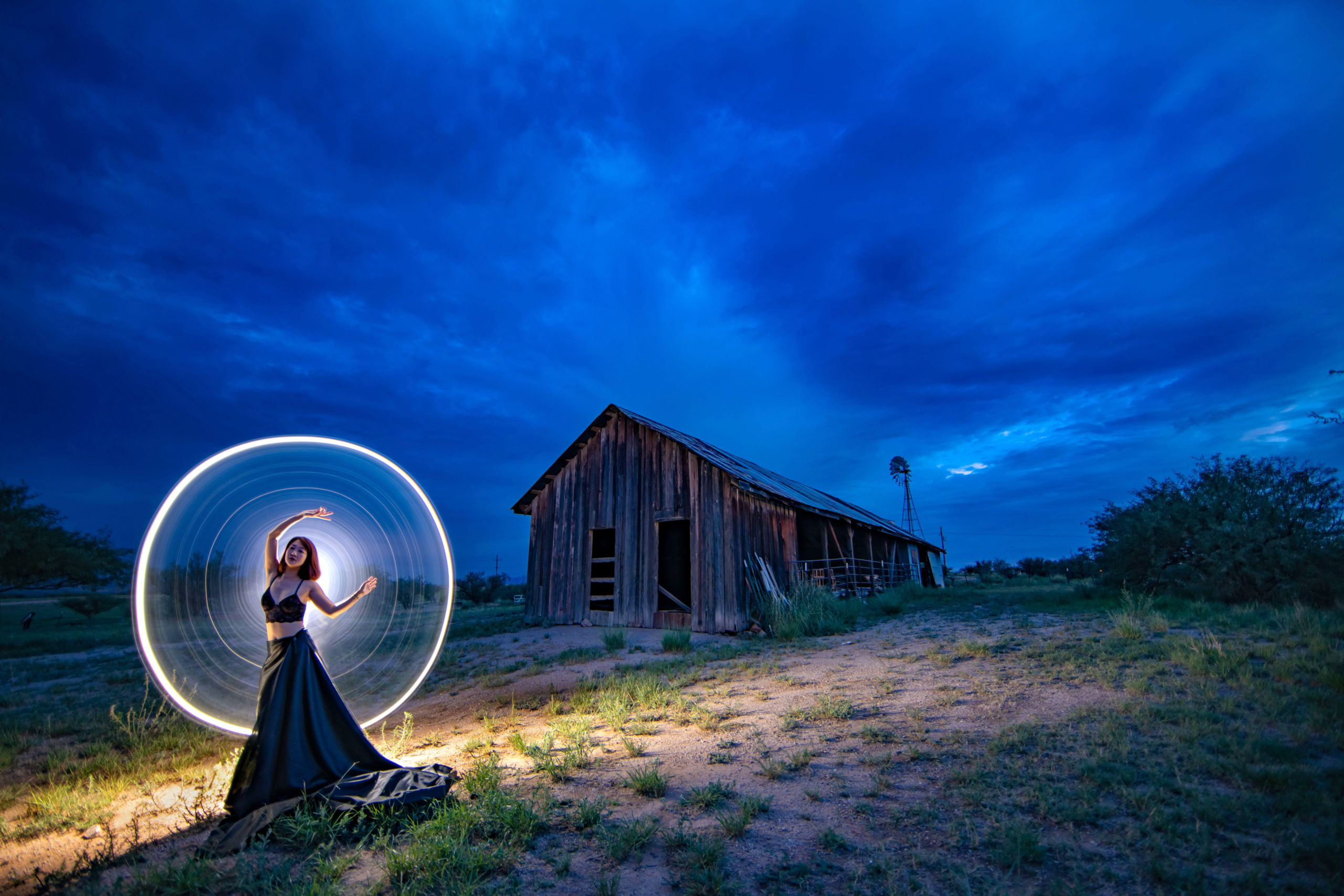 Kay He explores light painting in the Wild West