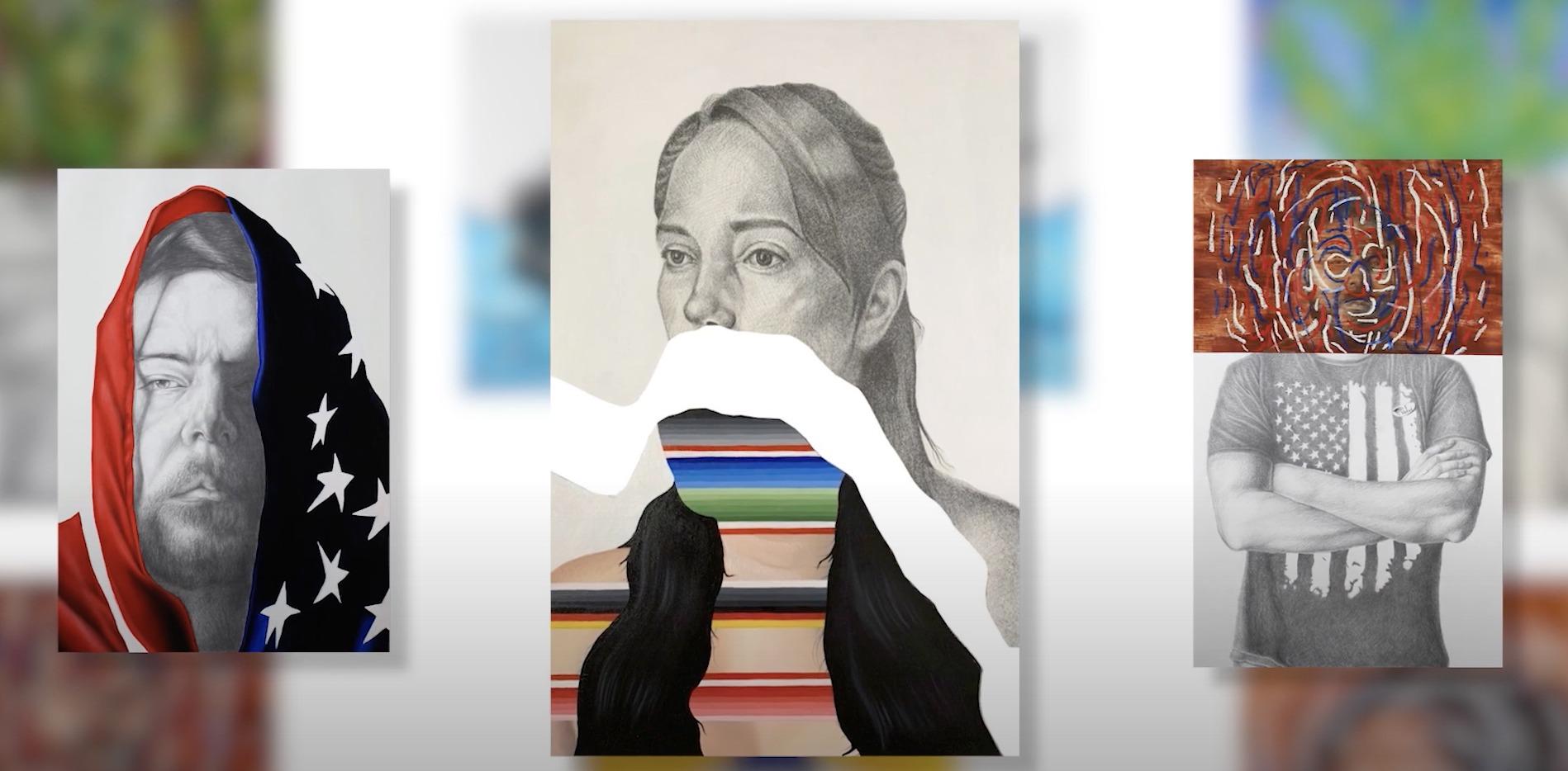 Arizona Arts Studio Series ... masked figure drawing