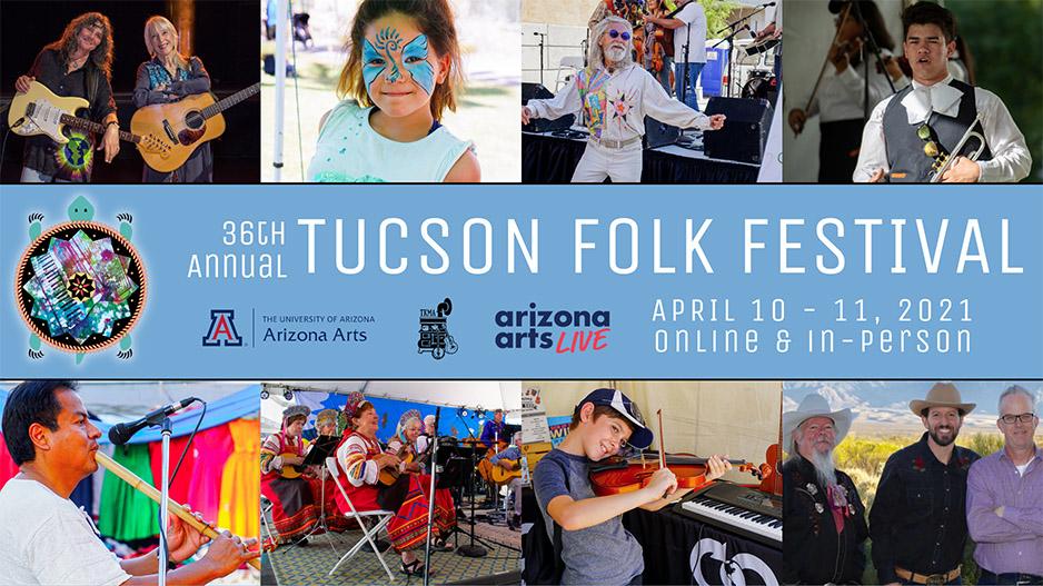 Tucson folk festival graphic