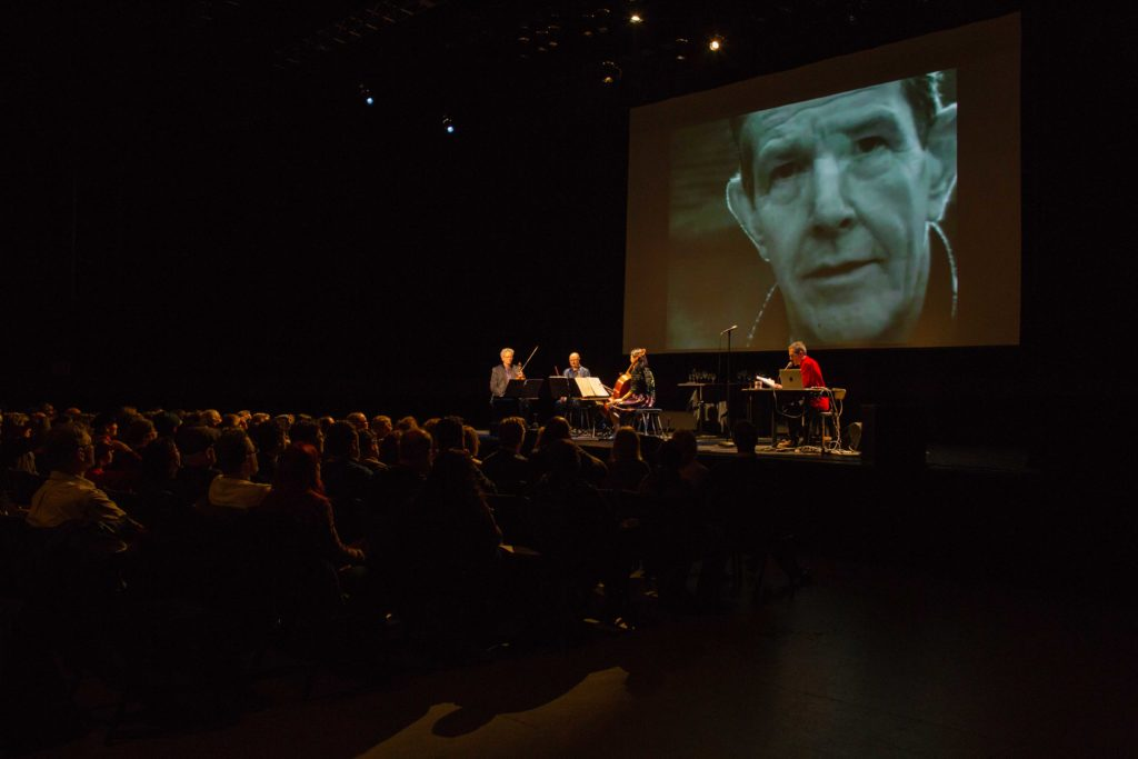 Stage shot of A Thousand Thoughts with Kronos Quartet
