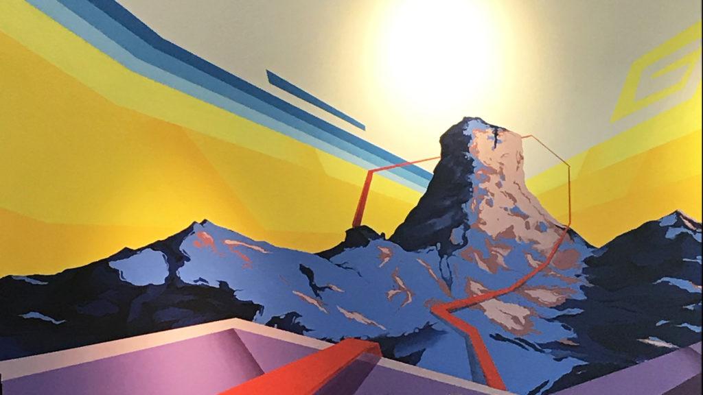 Landscape mural by Dwayne Manuel